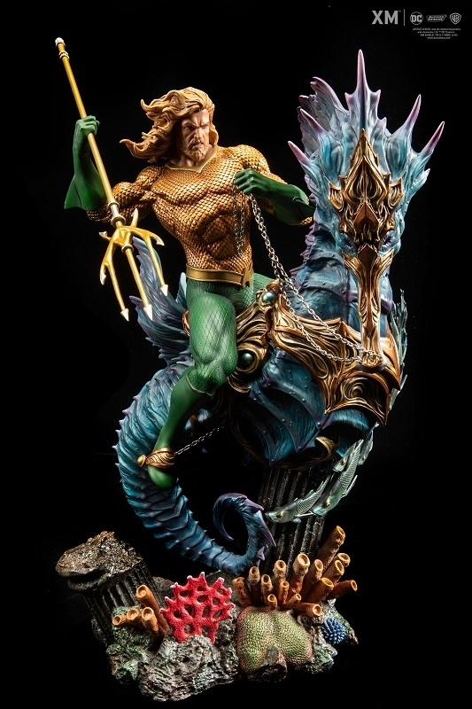 JUSTICE LEAGUE - Statua Aquaman Scala 1:6 DC COMICS REBIRTH PREMIUM COLLECTIBLES 50 cm