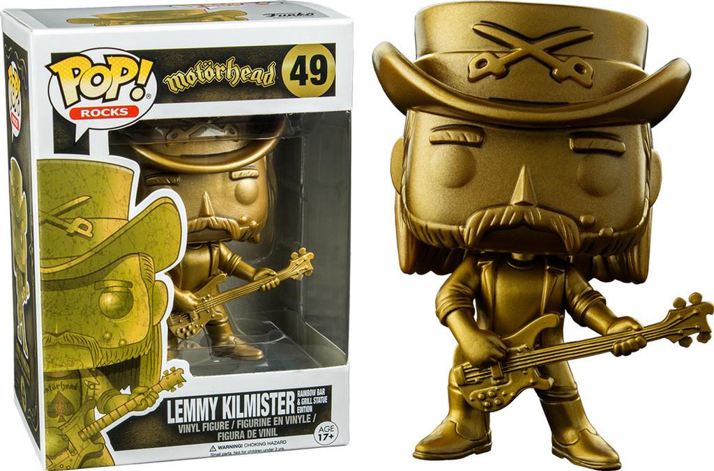 Motorhead POP! Rocks Vinyl Figure Lemmy (Golden Statue Edition) Exclusive 9 cm