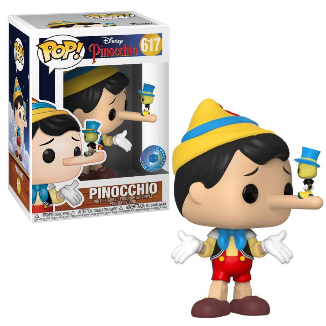 Pinocchio POP! Vinyl Action Figure Pinocchio with Jiminy Cricket Exclusive (con bollino Exclusive)