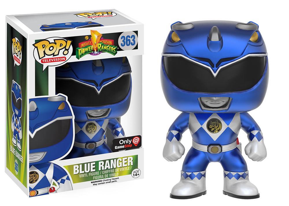 Power Rangers POP! Television Vinyl Figure Blue Ranger (Metallic) 9 cm