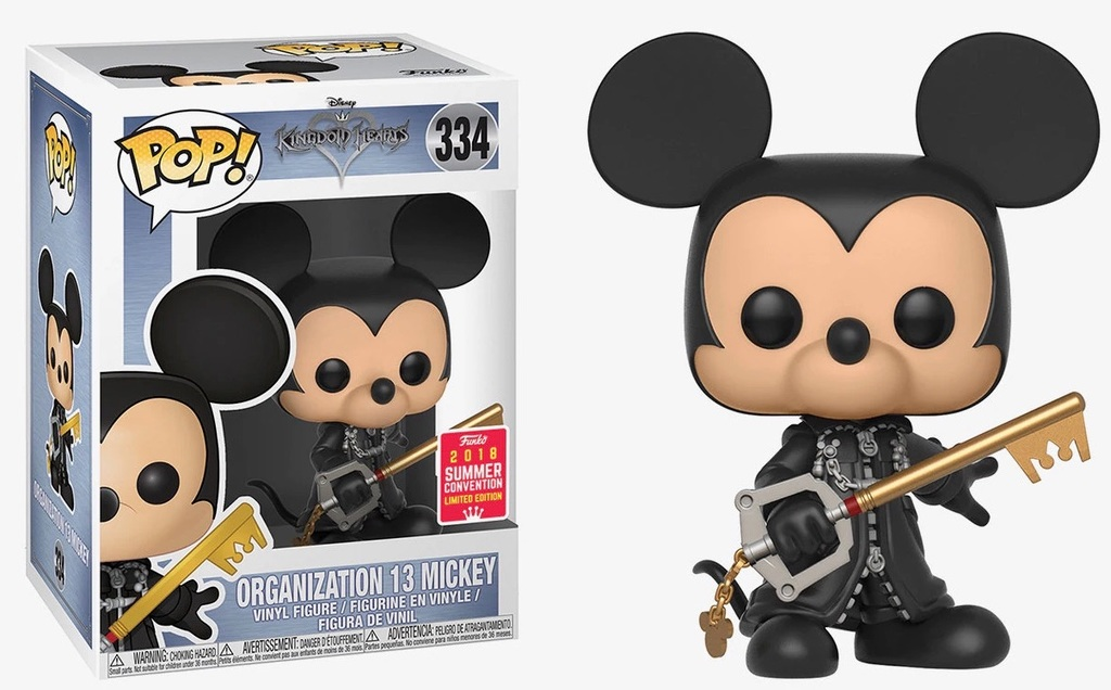 Kingdom Hearts POP! Organisation 13 Unhooded Mickey 9 cm (2018 Summer Convention Exclusive)