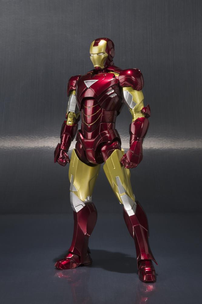 Iron Man S.H. Figuarts Action Figure Iron Man Mark VI & Hall of Armor Set 15 cm
