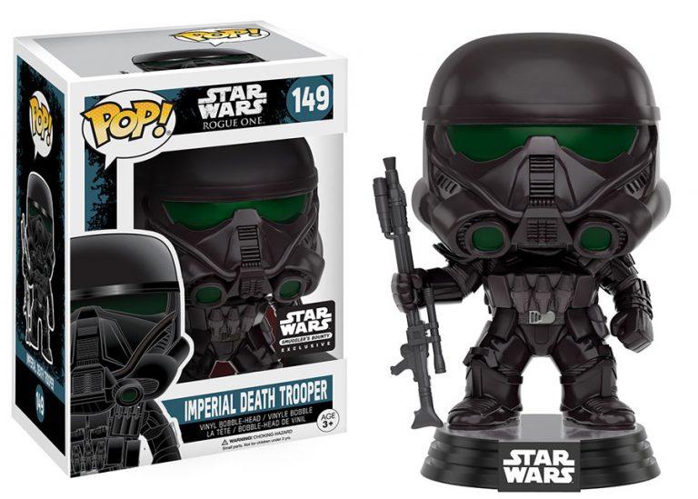 Star Wars Rogue One POP! Vinyl Bobble-Head Imperial Death Trooper 9 cm (con bollino Smugglers Bounty)