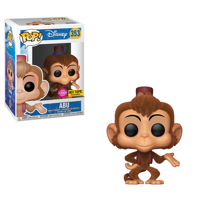 Aladdin POP! Vinyl Figure Abu (Flocked) 9 cm