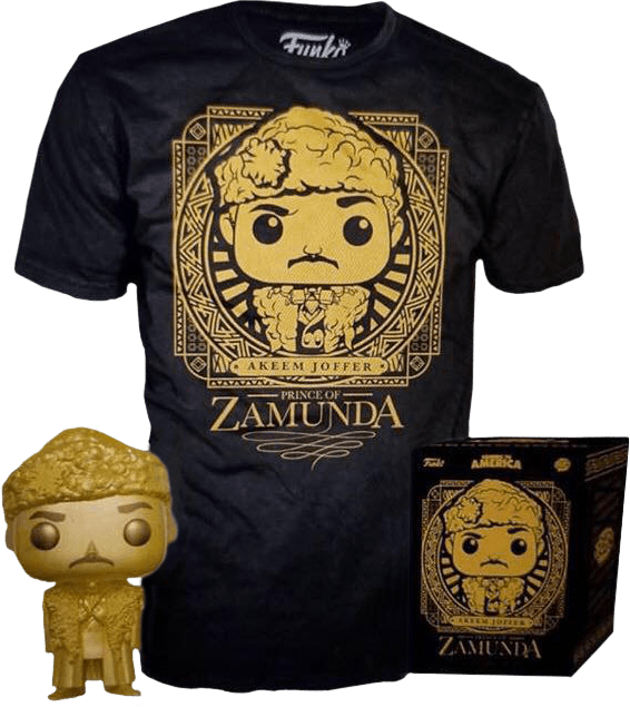 Coming to America - Prince Akeem Gold Pop! Vinyl Figure & T-Shirt Box Set