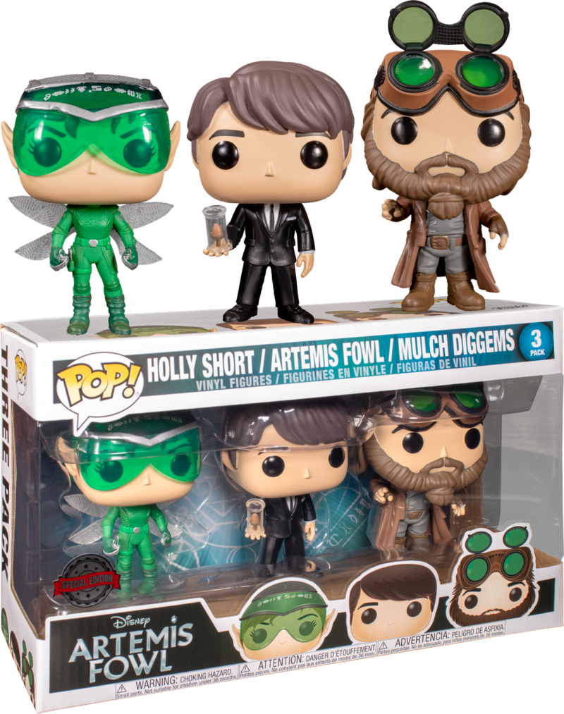Artemis Fowl POP! Movies Vinyl 3-pack Figures Holly Short, Artemis Fowl & Mulch Diggems Limited 9 cm