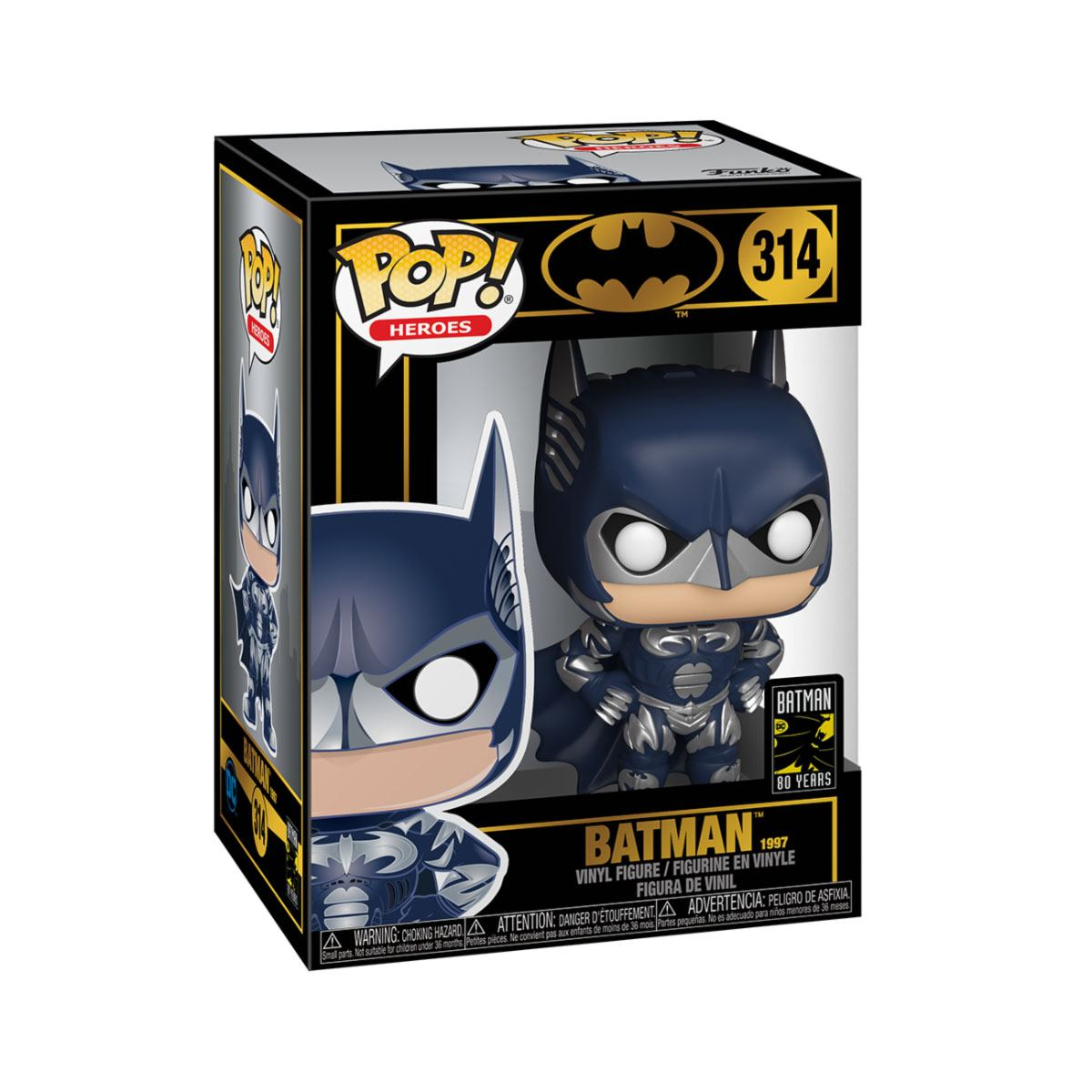 Batman 80th POP! Heroes Vinyl Figure Batman (1997) 9 cm