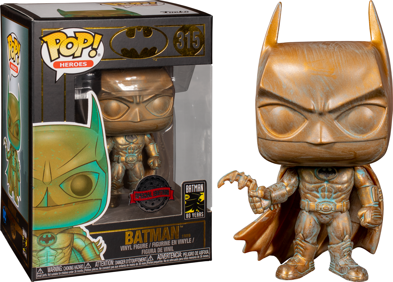 Batman (1989) POP! Heroes Vinyl Figure Batman Patina 80th Anniversary  Limited 9 cm