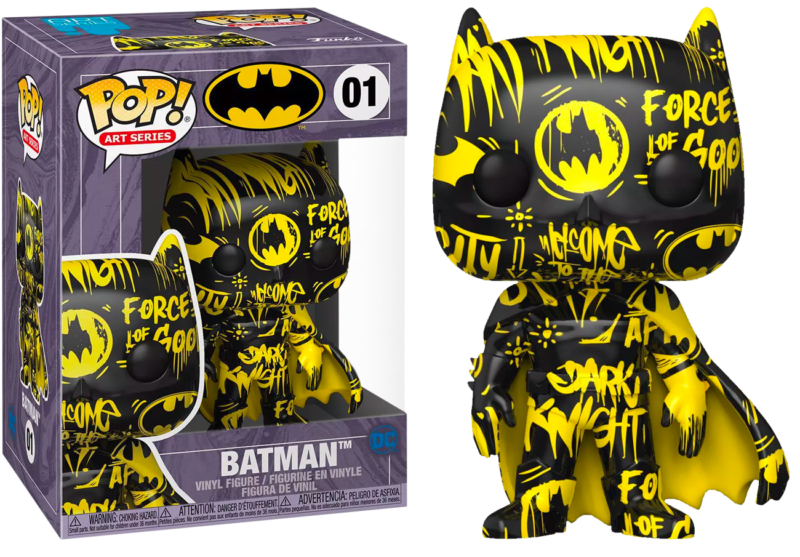 Batman POP! Vinyl Figure Batman Black & Yellow Artist Series with Pop Protector Limited Edition