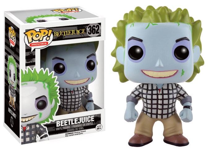 Beetlejuice POP! Movies Vinyl Figure Beetlejuice Check Shirt 9 cm