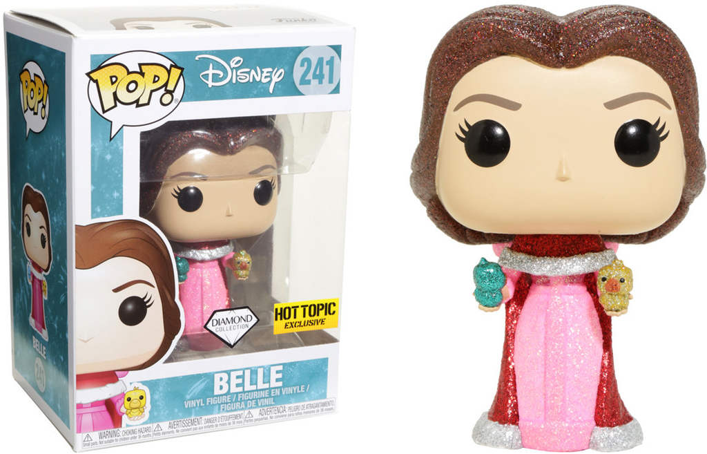 Beauty and The Beast POP! Disney Diamond Collection Vinyl Figure Belle Exclusive 9 cm (con bollino Hot Topic)