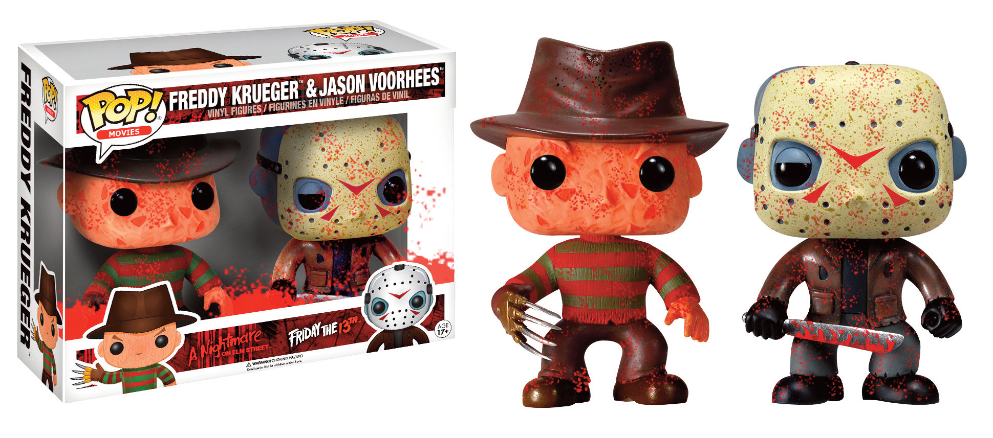 Horror Classics POP! Movies Vinyl Figures 2 Pack Bloody Jason & Freddy 9 cm