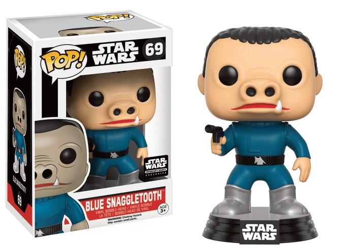 Star Wars POP! Vinyl Bobble-Head Blue Snaggletooth Limited 9 cm
