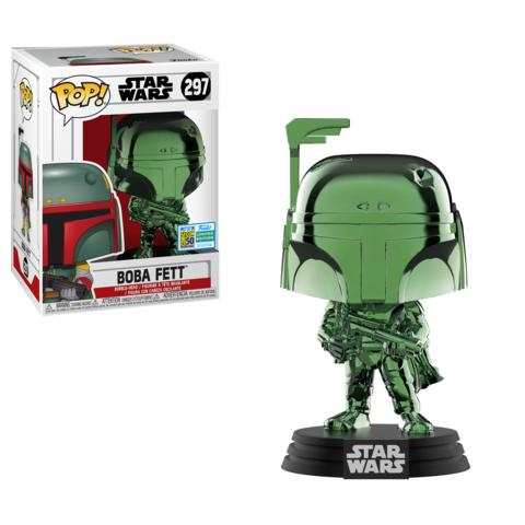 Star Wars POP! Vinyl Figure Boba Fett Green Chrome 9 cm (2019 Summer Convention Exclusive)