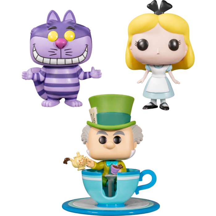Alice in Wonderland - Mad Tea Party Disneyland 65th Anniversary Pop! Vinyl Bundle (Set of 3)