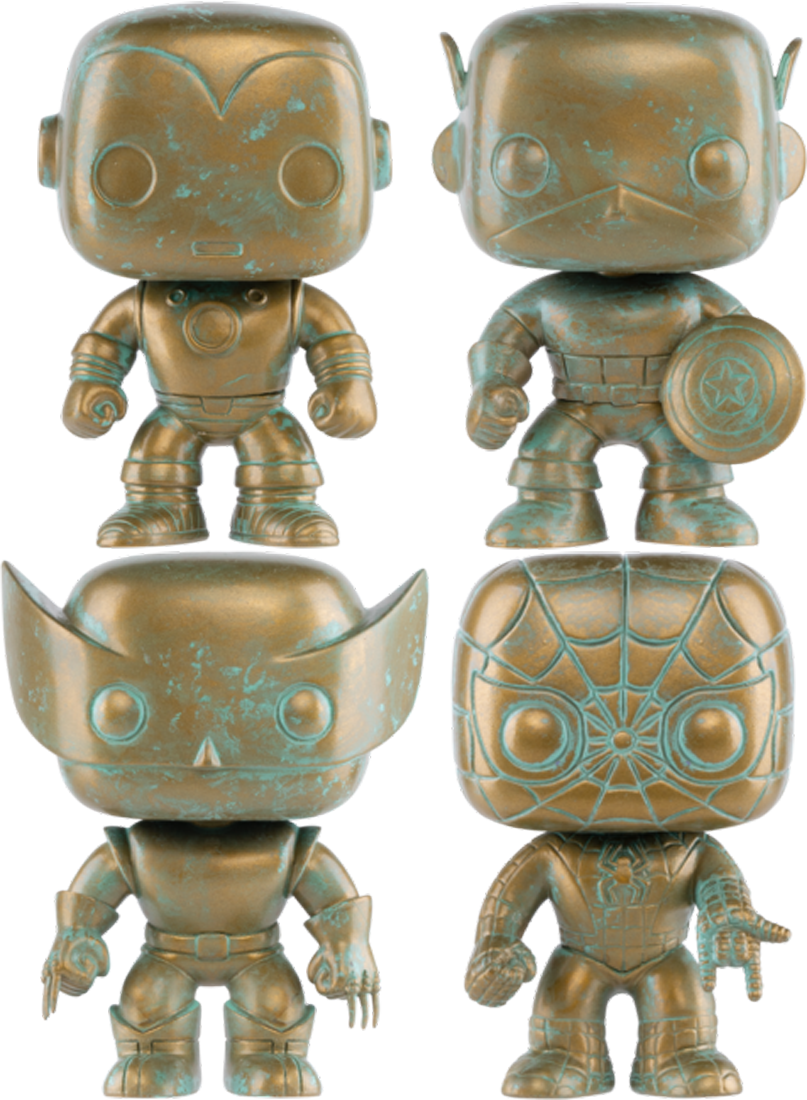 Marvel - Poppin' Patina 80th Anniversary Pop! Vinyl Bundle (Set of 4)