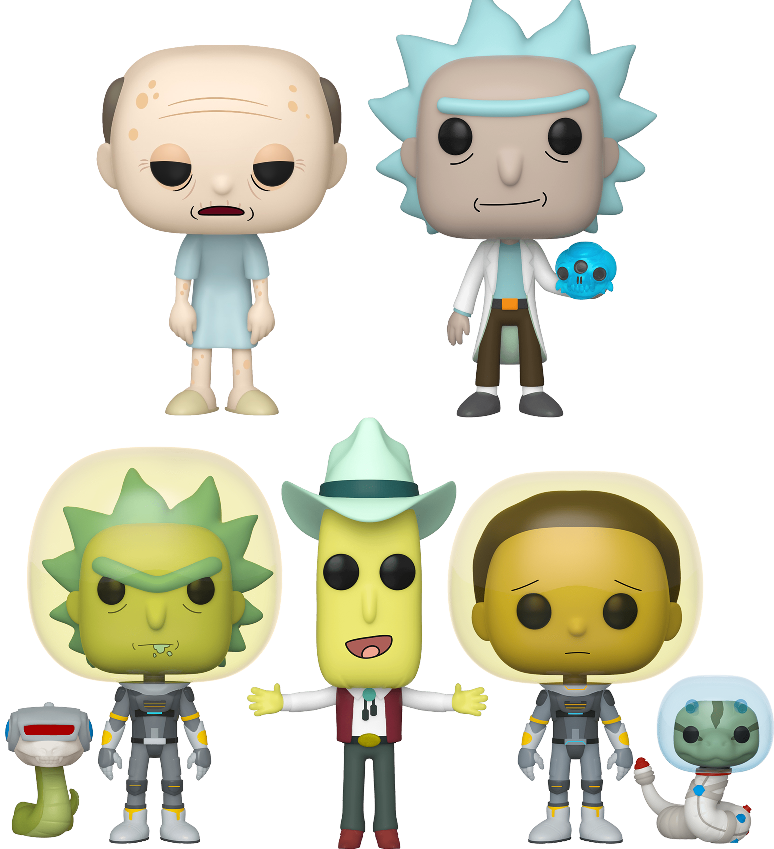 Rick and Morty - Snakes & Buttholes Pop! Vinyl Bundle (Set of 5)