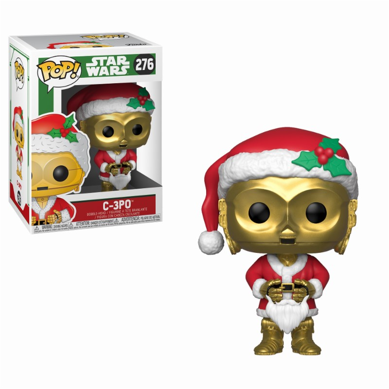 Star Wars POP! Vinyl Bobble-Head Holiday Santa C-3PO 9 cm