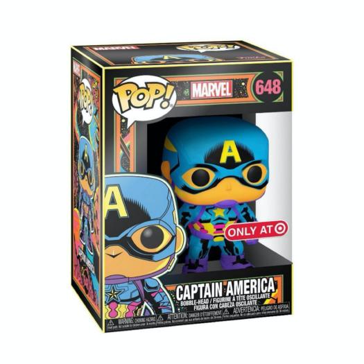 Marvel: Black Light POP! Vinyl Figure Captain America Limited (con bollino Special Edition Exclusive)