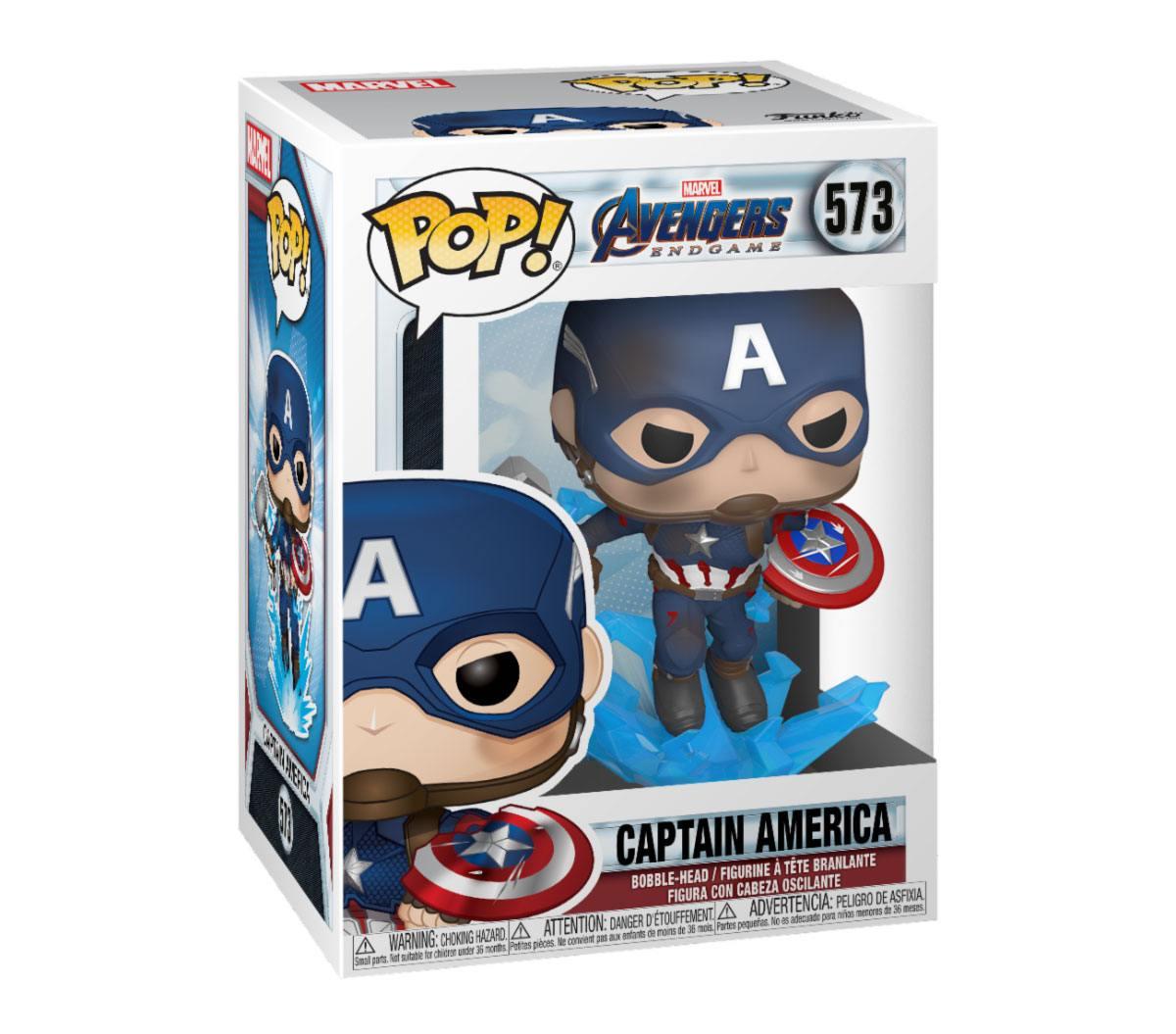 Avengers: Endgame POP! Movies Vinyl Figure Captain America w/Broken Shield & Mjölnir 9 cm