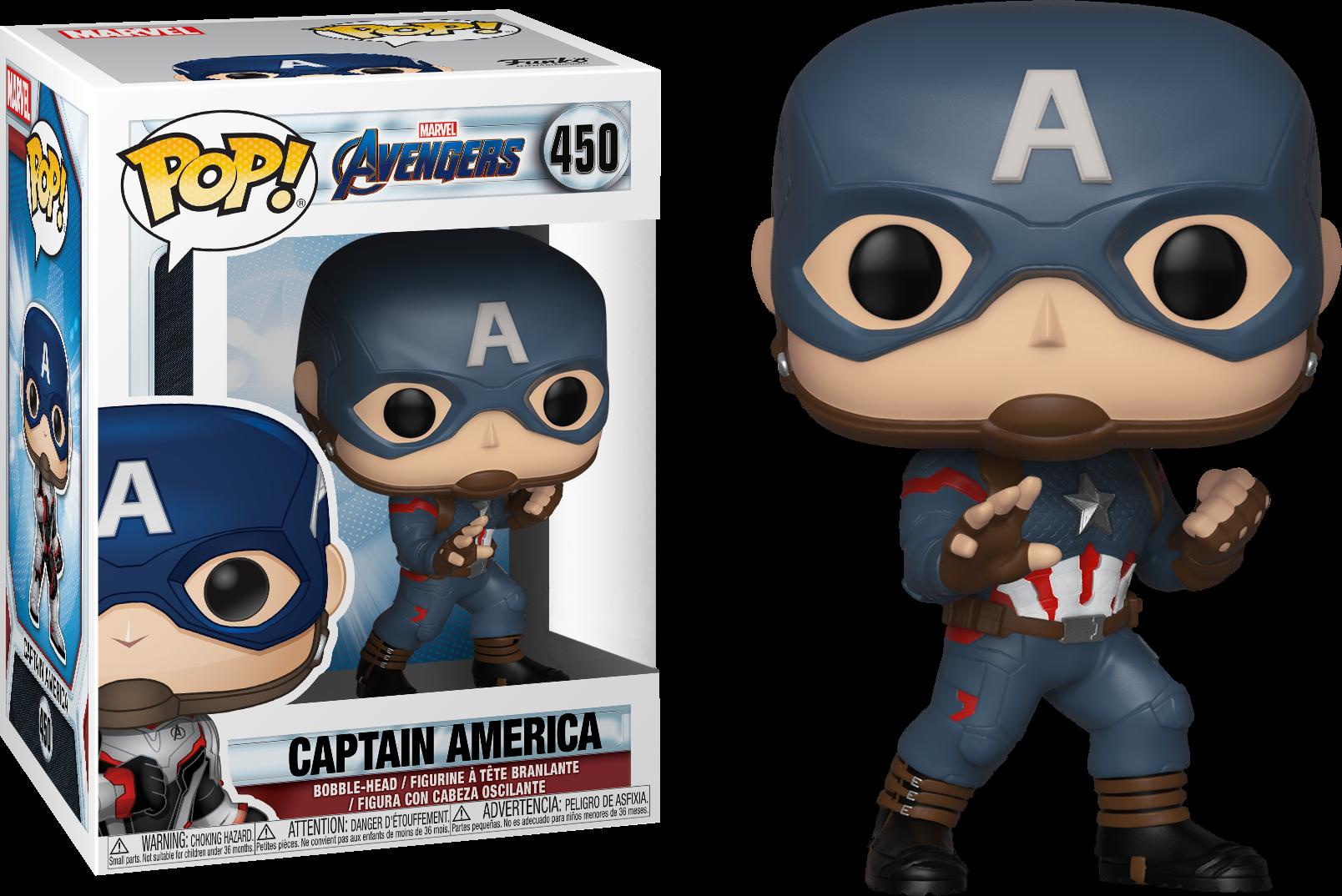 Avengers Endgame POP! Movies Vinyl Figure Captain America Limited 9 cm
