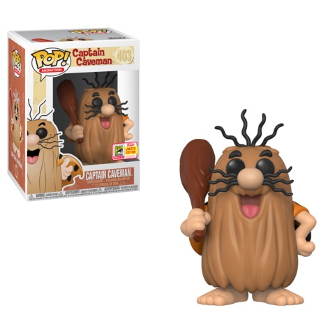 Hanna & Barbera POP! Animation Vinyl Figure Captain Caveman 8-Bit 2018 Summer Convention Exclusive 9 cm