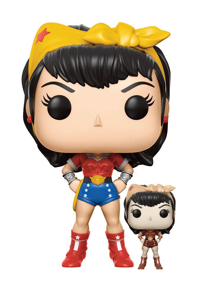 DC Comics Bombshells POP! Heroes Vinyl Figures 9 cm Wonder Woman Assortment (2)