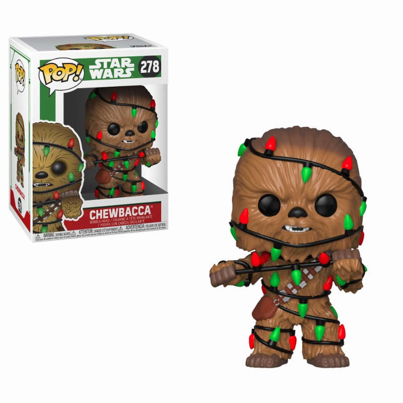 Star Wars POP! Vinyl Bobble-Head Holiday Chewbacca with Lights 9 cm