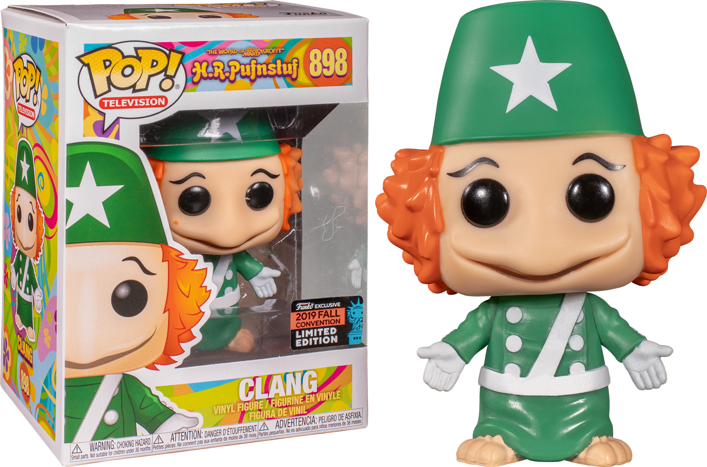 H.R.Pufnstuf! Vinyl Figure Clang Exclusive Edition 9 cm (con bollino Fall Convention 2019)