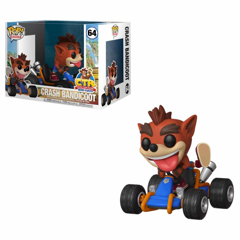 Crash Team Racing POP! Rides Vinyl Figure Crash Bandicoot 15 cm