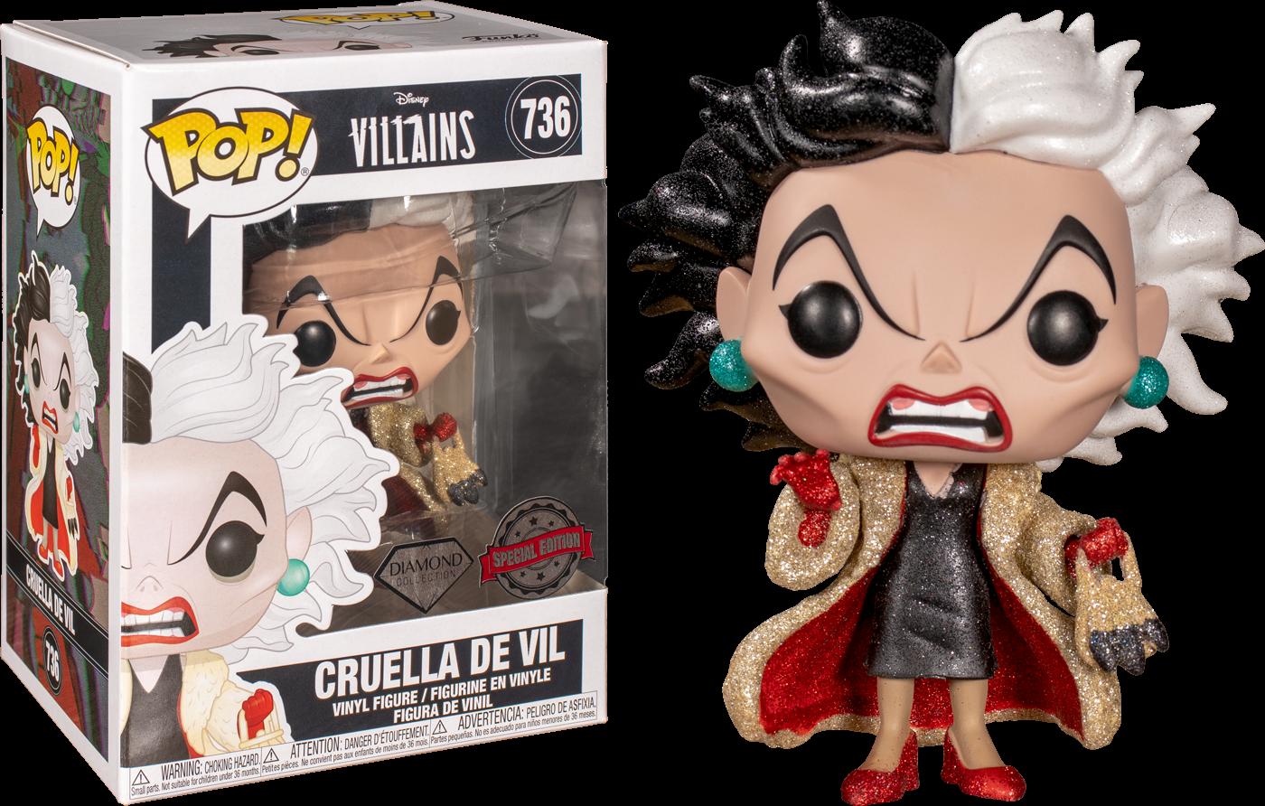 Disney Villains POP! Vinyl Figure Cruella De Vil Diamond Glitter Limited 9 cm