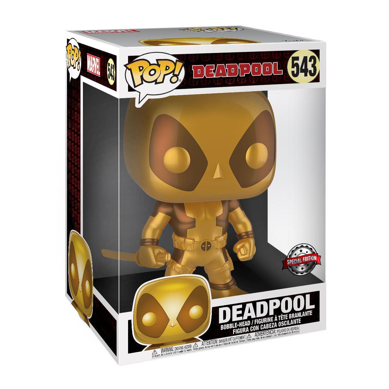 Deadpool Super Sized POP! Vinyl Figure Two Sword Gold Deadpool 25 cm