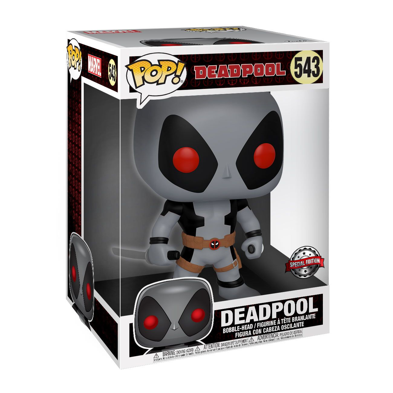 Deadpool Super Sized POP! Vinyl Figure Two Sword Gray Deadpool 25 cm