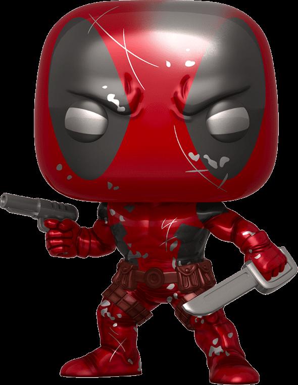 Deadpool POP! Marvel Vinyl Figure Deadpool First Appearance Metallic 80th Anniversaryy Limited 9 cm