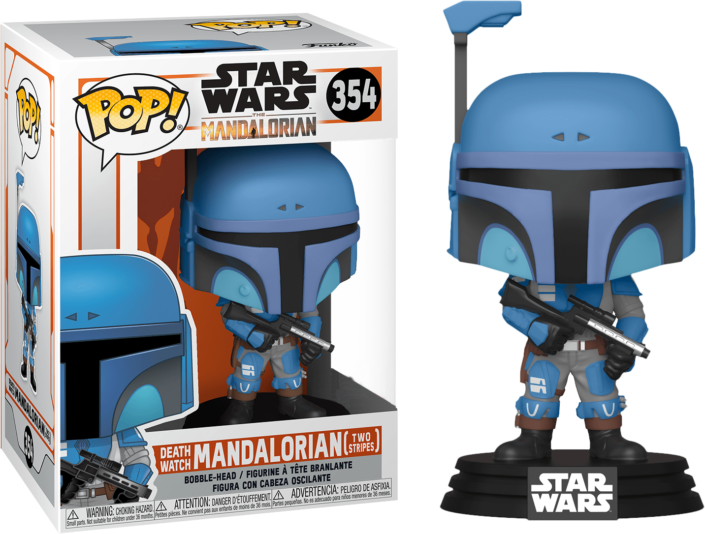 Star Wars The Mandalorian POP! TV Vinyl Figure Death Watch Mandalorian Two Stripes Limited 9 cm