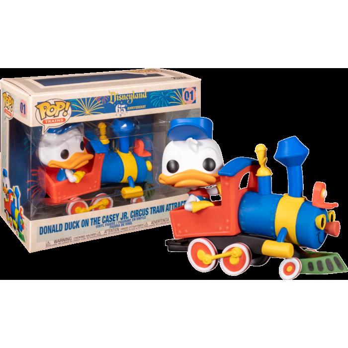Disneyland: 65th Anniversary POP! Deluxe Vinyl Figure Donald Duck on the Casey Jr. Circus Train Attraction