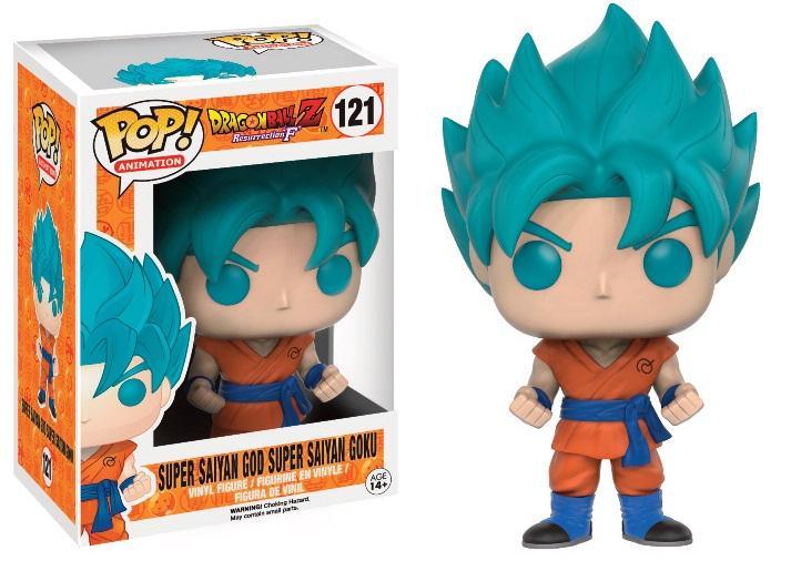 Dragonball Z Resurrection F POP! Vinyl Figure Super Saiyan God Super Saiyan Goku (Blue) 9 cm