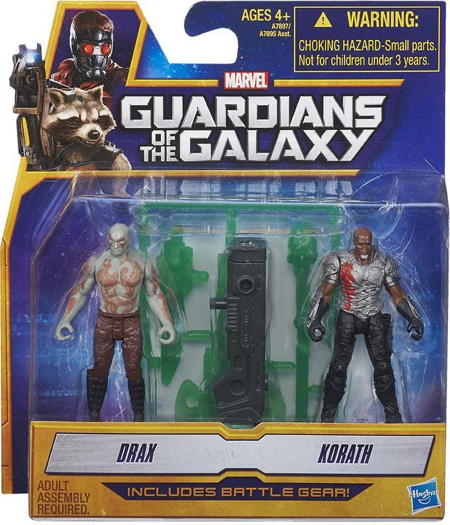Guardians of the Galaxy Action Figure 2-Packs 6 cm Drax e Korath