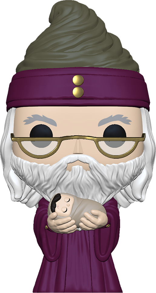 Harry Potter POP! Movies Vinyl Figure Dumbledore w/Baby Harry 9 cm