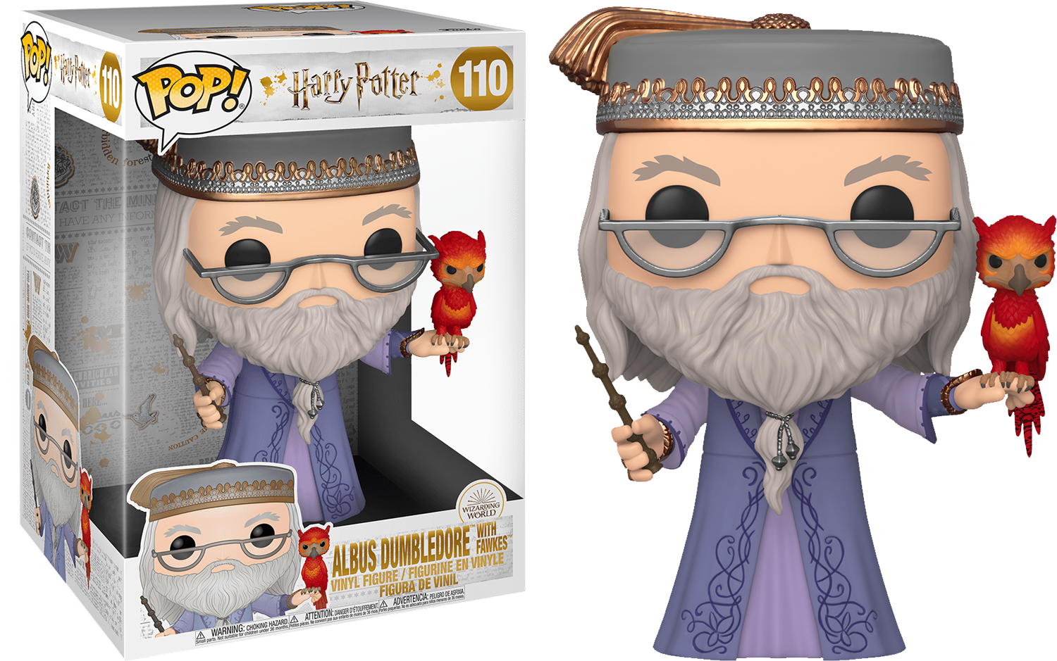 Harry Potter POP! Movies Supersized Vinyl Figure Dumbledore with Fawkes 25 cm