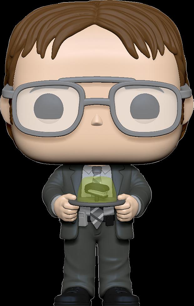 The Office POP! TV Vinyl Figure Dwight w/Jello Stapler 9 cm