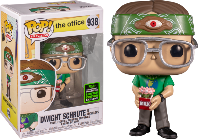 The Office POP! Vinyl Figure Dwight Schrute as Recyclops Limited 9 cm (con bollino Spring Convention 2020)