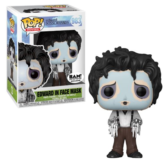 Edward Scissorhands POP! Movies Vinyl Figure Edward Scissorhands with Purple Face Mask Limited 9 cm