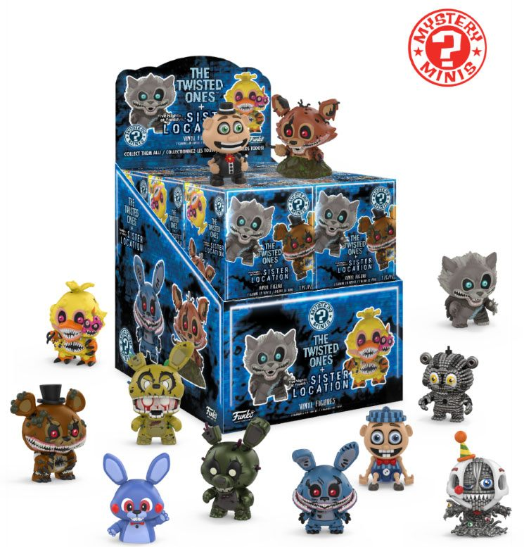 Five Nights at Freddy's Mystery Minis Vinyl Mini Figures 6 cm Display Classic (12)