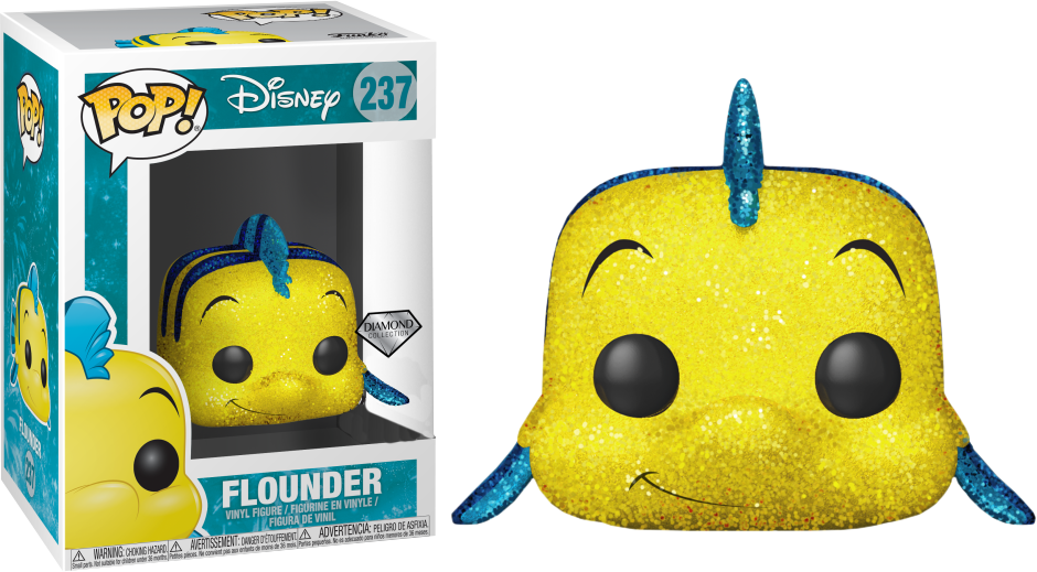 The Little Mermaid POP! Disney Vinyl Figure Flounder Diamond Glitter 9 cm