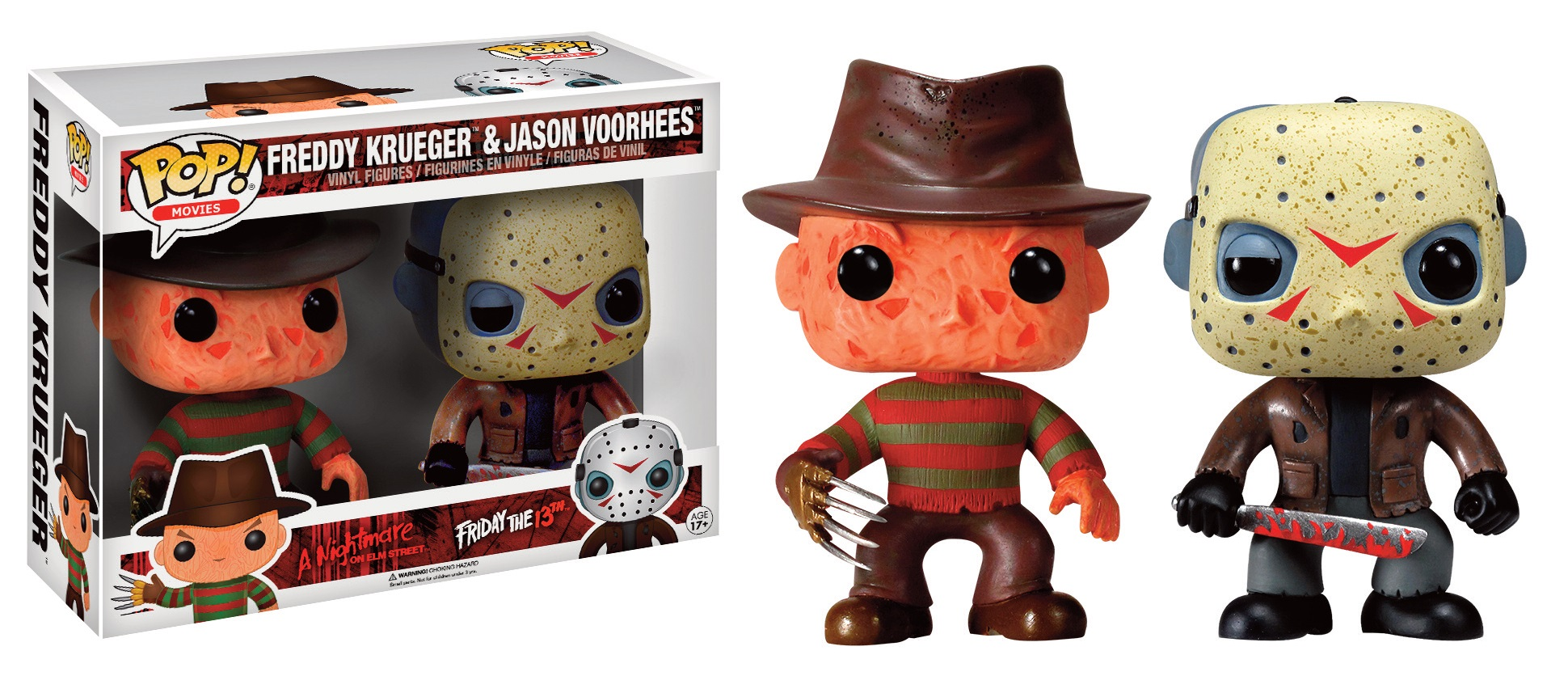 Freddy vs Jason Pop! 2-pack Vinyl Figures Freddy & Jason Battle-Damaged Limited 9 cm