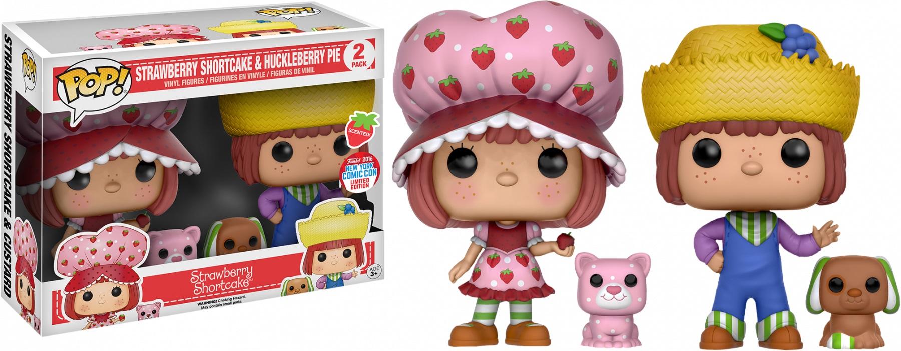 Strawberry Shortcake POP! Vinyl Figures 2-Pack Strawberry Shortcake & Huckleberry Pie 9 cm (con bollino NYCC 2016)
