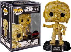 Star Wars POP! Vinyl Figure C-3PO Futura with Pop Protector Limited Edition 9 cm