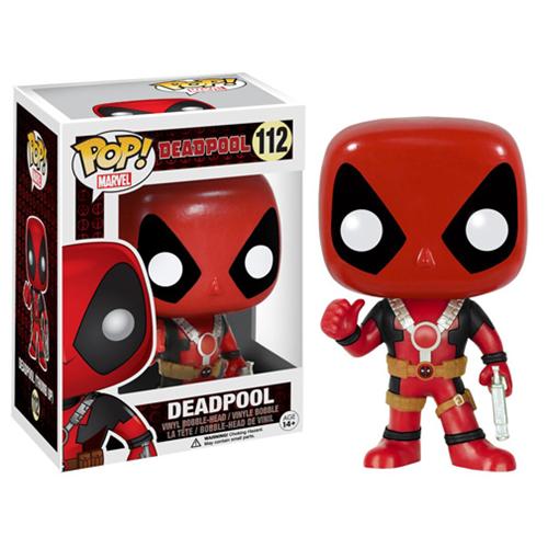 Marvel Comics POP! Vinyl Bobble-Head Deadpool Thumb Up 10 cm