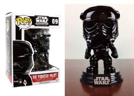 Star Wars POP! Vinyl Bobble-Head Figure Tie Fighter Pilot Black (Chrome) 9 cm